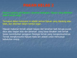 PAKAN KELAS 2