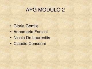APG MODULO 2