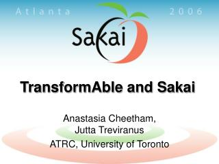 TransformAble and Sakai