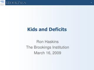 Kids and Deficits