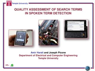 QUALITY ASSESSMENT OF SEARCH TERMS IN SPOKEN TERM DETECTION
