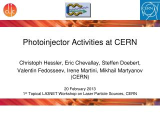 Photoinjector  Activities at CERN