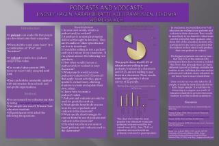 Podcasts and vodcasts Lindsey Hagen, Sarah Buratti, Kelli Rasmussen,  leKeisha Weimerskirch