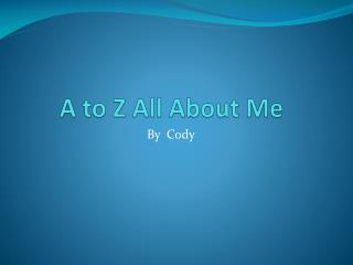 A to Z All About Me