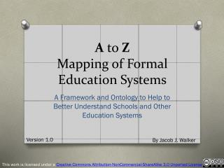 A  to  Z Mapping of Formal Education Systems