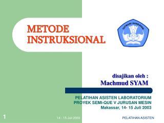 METODE INSTRUKSIONAL