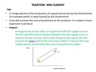 TAXATION  AND SUBSIDY