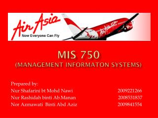 MIS 750 ( MANAGEMENT INFORMATON  SYSTEMS)