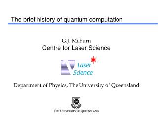 The brief history of quantum computation
