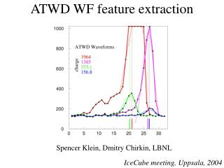 ATWD WF feature extraction