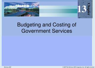 Budgeting and Costing of  Government Services