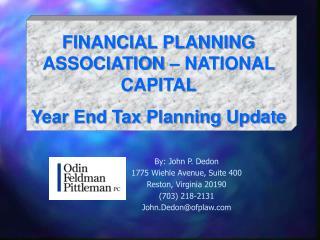 By: John P. Dedon 1775 Wiehle Avenue, Suite 400 Reston, Virginia 20190 (703) 218-2131