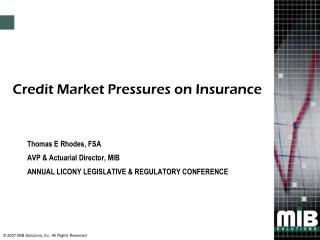 Credit Market Pressures on Insurance
