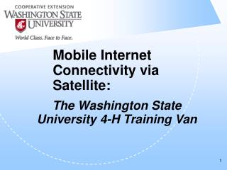 Mobile Internet Connectivity via Satellite: