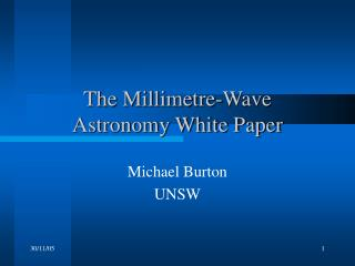 The Millimetre-Wave  Astronomy White Paper