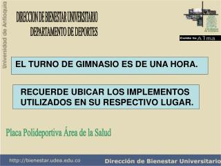 DIRECCION DE BIENESTAR UNIVERSITARIO