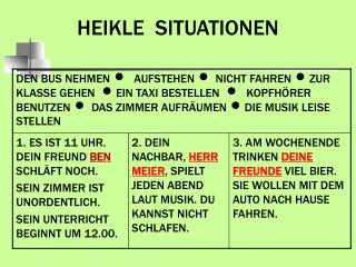 HEIKLE  SITUATIONEN
