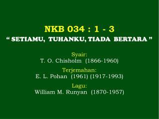 NKB 034 : 1 - 3