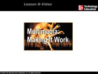 Lesson 8-Video
