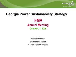 IFMA Annual Meeting October 21, 2009