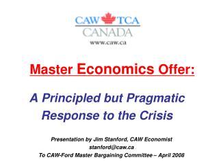 Master  Economics  Offer: