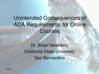Unintended Consequences of ADA Requirements for Online Courses