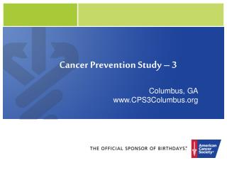 Cancer Prevention Study – 3