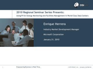 2010 Regional Seminar Series Presents:
