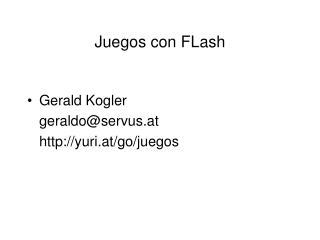 Juegos con FLash