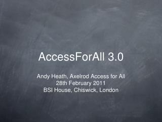 AccessForAll 3.0