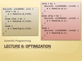 Lecture 6: optimization