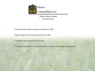 Huron Commodities  Inc .