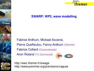 SWARP: WP2, wave modelling