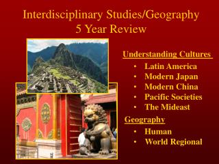 Interdisciplinary Studies/Geography 5 Year Review