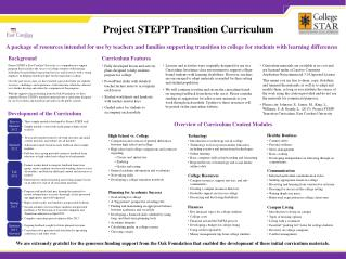 Project STEPP Transition Curriculum