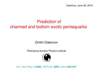 Prediction of  charmed and bottom exotic pentaquarks
