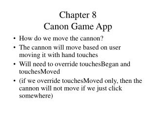 Chapter 8 Canon Game App