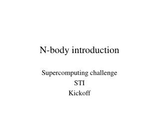 N-body introduction