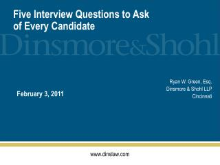 Five Interview Questions to Ask of Every Candidate