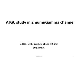 ATGC study in  ZmumuGamma  channel
