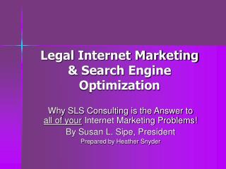 Legal Internet Marketing & Search Engine Optimization