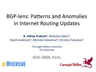 BGP-lens: Patterns and Anomalies in Internet Routing Updates