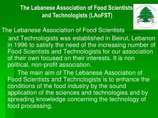 The Lebanese Association of Food Scientists