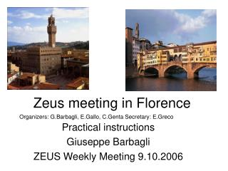 Zeus meeting in Florence