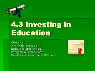 4.3 Investing in Education