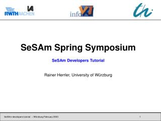 SeSAm Spring Symposium SeSAm Developers Tutorial Rainer Herrler, University of Würzburg