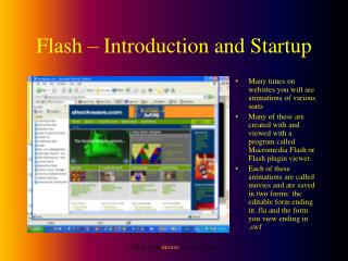 Flash – Introduction and Startup