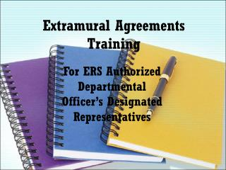 Extramural Agreements Training