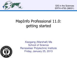 MapInfo Professional 11.0:  getting started