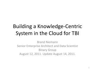 Building a Knowledge-Centric System in the Cloud for TBI